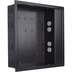 Chief In-Wall Storage Box with 4-Receptacle Outlet, EMI Filter & Surge Protection (Black)