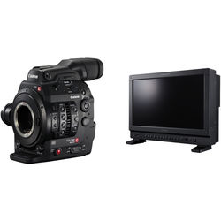 "Canon Cinema EOS C300 Mark II Camcorder Body (EF Mount) Kit with DP-V1710 17"" UHD 4K Reference Display"