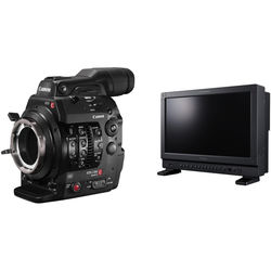 "Canon Cinema EOS C300 Mark II Camcorder Body (PL Mount) Kit with DP-V1710 17"" UHD 4K Reference Display"