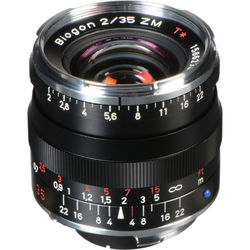 Zeiss 35mm f/2 ZM Biogon T* Manual Focus Lens ( Black)
