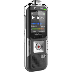 Philips DVT6010 8GB Digital Voice Tracer Audio Recorder (Silver/Chrome)