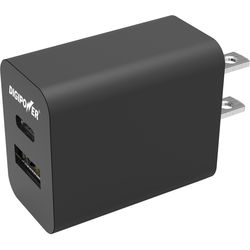 DigiPower Dual USB Wall Charger (Black)