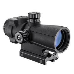 Barska 4x32mm AR-X PRO Prism Scope (Cross Dot Illuminated Reticle, Matte Black)