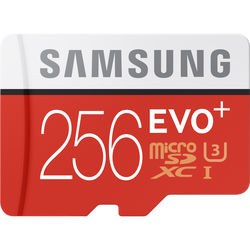 Samsung 256GB EVO+ microSDXC Memory Card with SD Adapter