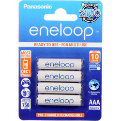 Panasonic Eneloop AAA Rechargeable Ni-MH Batteries (800mAh, Pack of 4)
