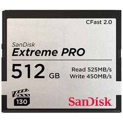 SanDisk 512GB Extreme PRO CFast 2.0 Memory Card (ARRI, Canon, and BlackMagic Cameras)