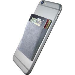 Cubi CardNinja Adhesive Wallet for Smartphones (Steel Gray)