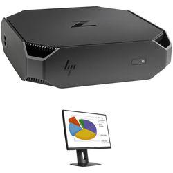 "HP Z2 Mini G3 Desktop Workstation with Z24n 24"" Widescreen IPS Monitor Kit"