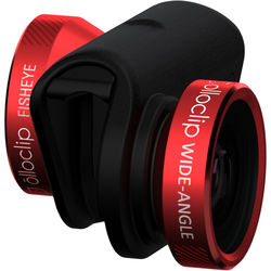 olloclip 4-in-1 Photo Lens for iPhone 6/6s/6 Plus/6s Plus (Red Lens with Black Clip)