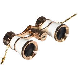 LaScala Optics 3x25 Carmen Opera Glasses (White / Gold)