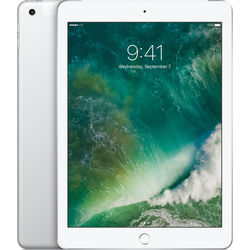"Apple 9.7"" iPad (2017, 128GB, Wi-Fi + 4G LTE, Silver)"