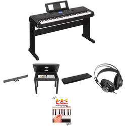Yamaha DGX-660 Home/Studio Kit with Pedals, Bench, and Studio Headphones (Black)
