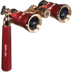 LaScala Optics 3x25 Iolanta Opera Glasses (Burgundy & Gold)