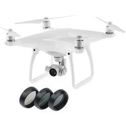 Phantom 4 Quadcopter with Filter Starter Kit