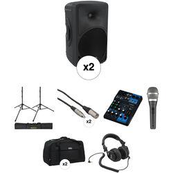 "Mackie 1000W HD Portable 10"" Powered Loudspeaker Large Kit"