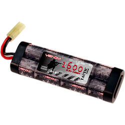 Venom Group Venom 9.6V 1600mAh 8-Cell Stick Flat NiMH Battery Pack for Airsoft with Mini Tamiya