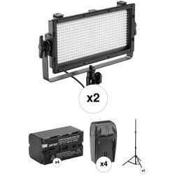Genaray SpectroLED Essential 500 Daylight 2-Light Kit with Battery and Stand