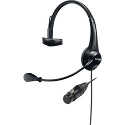 Shure BRH31M-NXLR4F Lightweight Single-Sided Broadcast Headset with Neutrik 4-Pin XLR-F Cable