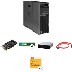 HP Z640 Series Turnkey Workstation with 32GB RAM, Quadro M2000, and Blu-ray Disc Rewriter
