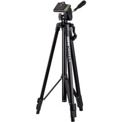 Sunpak 5400DLX Tripod with 3-Way, Pan-and-Tilt Head, Smartphone Mount, and Mount for GoPro Camera