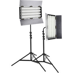 Impact Ready Cool Fluorescent 2-Light Kit with Stands