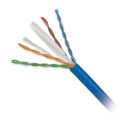 Honeywell 4-Pair 23 AWG CAT6 Plus Riser Cable (1000' Reel in-a-Box, Blue)