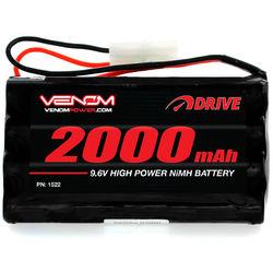 Venom Group 9.6V 2000mAh 8-Cell NiMH Battery for Popular 9.6V Toy RC Cars
