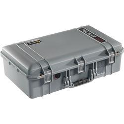 Pelican 1555AirNF Carry-On Case (Silver, No Foam/Empty)