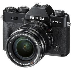 FUJIFILM X-T20 Mirrorless Digital Camera with 18-55mm Lens (Black)