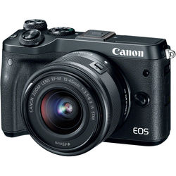 Canon EOS M6 Mirrorless Digital Camera with 15-45mm Lens (Black)