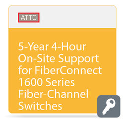 ATTO Technology 4-Hour On-Site Support for FibreConnect 1600-Series Fiber-Channel Switches (5-Year)