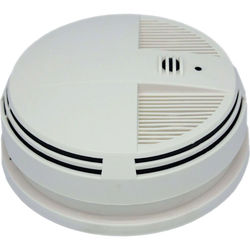 KJB Security Products SG Home Smoke Detector with Battery-Powered 720p Wi-Fi Covert Camera (Side View)