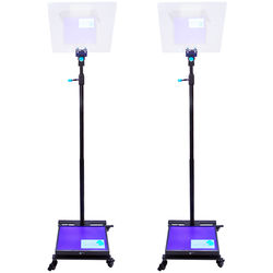 """MagiCue Stage Master Presidential Prompter Package with Hard Case (Pair, 17"""" LCD)"""