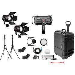 Fiilex X312 1-Q500-DC 2-P360 Pro Plus 3-Light LED Gaffer's Interview Kit