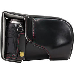 MegaGear Ever Ready Leather Camera Case for LUMIX GX85 (Black)