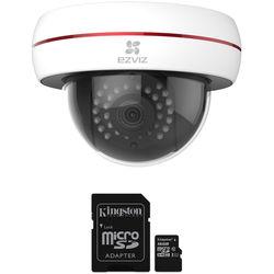 ezviz CV-220 Husky Dome 1080p Outdoor Vandal-Resistant Wi-Fi Camera with Night Vision & 16GB microSD Card