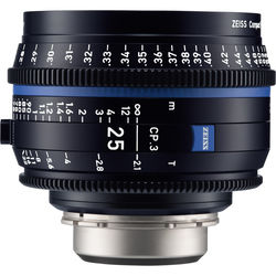 ZEISS CP.3 25mm T2.1 Compact Prime Lens (PL Mount, Meters)