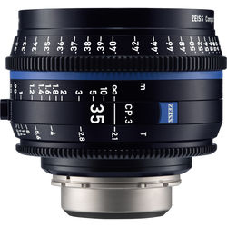 Zeiss CP.3 35mm T2.1 Compact Prime Lens (MFT Mount, Feet)