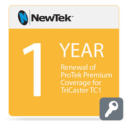 NewTek 1-Year Renewal of ProTek Premium Coverage for TriCaster TC1 (Download)