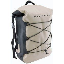 Mad Water Classic Roll-Top Waterproof Backpack (30L, Khaki)