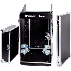 DeeJay LED Flight Road Case for 10 RU Mix Rack/16 RU Space Vertical Rack System with Full AC