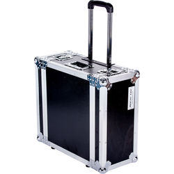 """DeeJay LED  4 RU Amplifier Deluxe Case with Wheels and Pull-Out Handle (18"""" Deep)"""