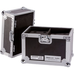 DeeJay LED Case for 12 Microphones with Storage Compartment