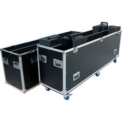 """DeeJay LED Road Case for Two 80""""/90"""" LED TVs"""