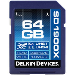 Delkin Devices 64GB UHS-II SDXC Memory Card (V60)