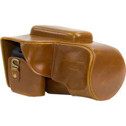 MegaGear Ever Ready Leather Camera Case for Nikon COOLPIX P900/P900S (Light Brown)