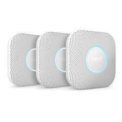 Nest Protect Battery-Powered Smoke and Carbon Monoxide Alarm (2nd Generation, 3-Pack)
