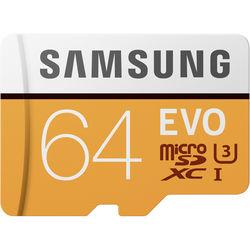Samsung 64GB EVO UHS-I microSDXC Memory Card with SD Adapter