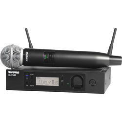 Shure GLXD24R/SM58 Advanced Digital Wireless Handheld Microphone System with SM58 Capsule (2.4 GHz)