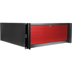 iStarUSA D416-DE6RD-RD 6-Bay Compact Rackmount Trayless Hotswap Chassis (Red)